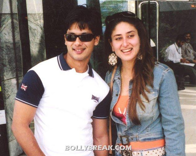 Shahid kapoor kareena kapoor Old unseen Pic when they were boyfriend and girlfriend - Shahid kapoor kareena kapoor Old Pic - Boyfriend Girlfriend