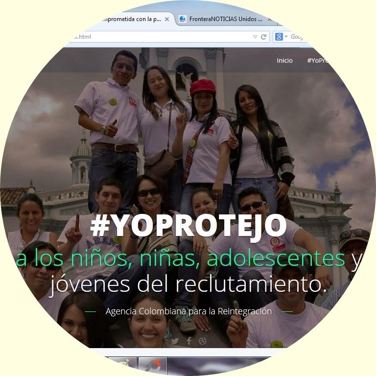 #YoProtejo   ACR y FronteraNOTICIAS invitan a la gran caminata contra el reclutamiento forzado de niñas, niños y adolescentes