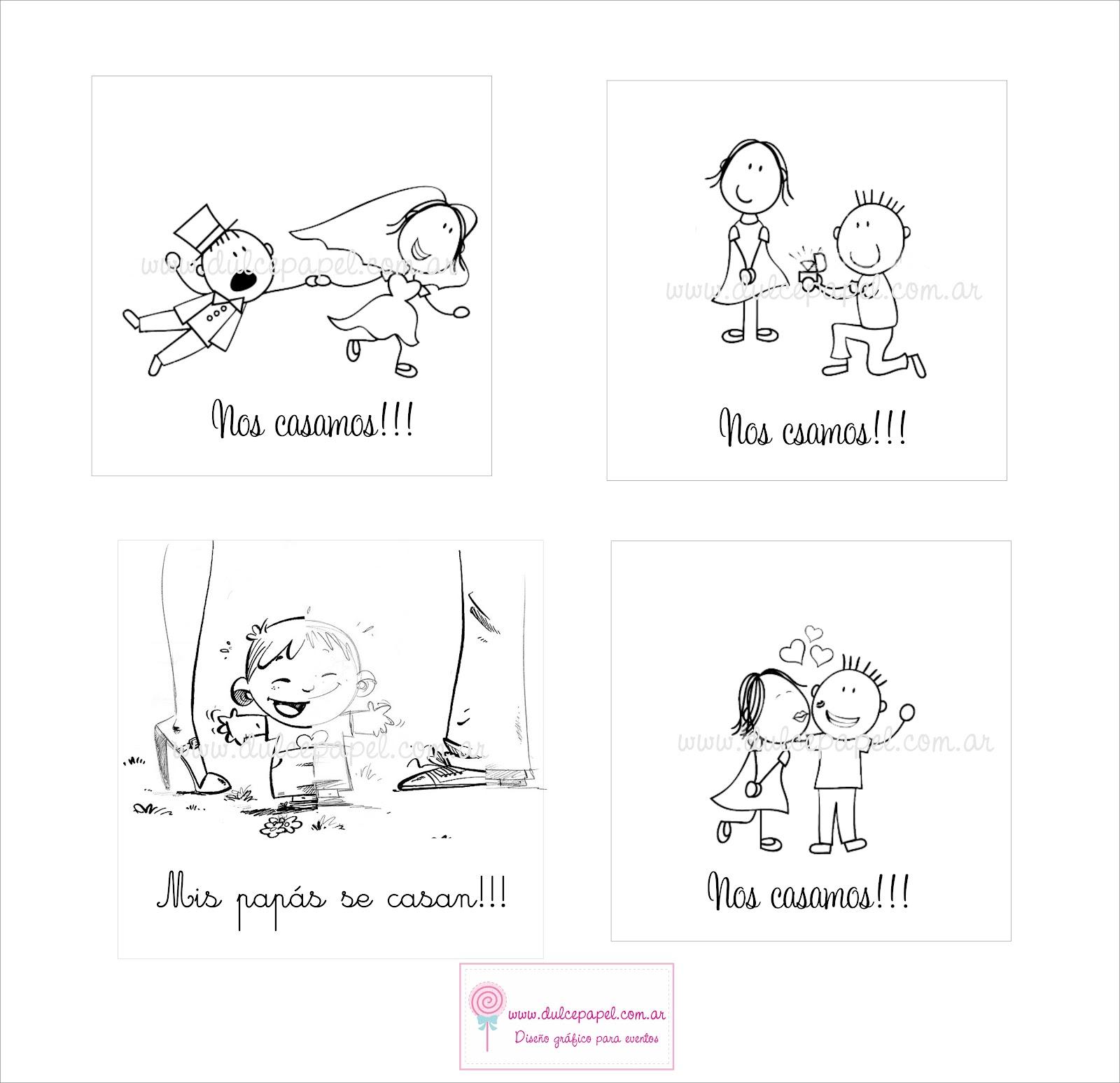 dibujos divertidos de novios para tarjetas de bodas MEMES Pictures