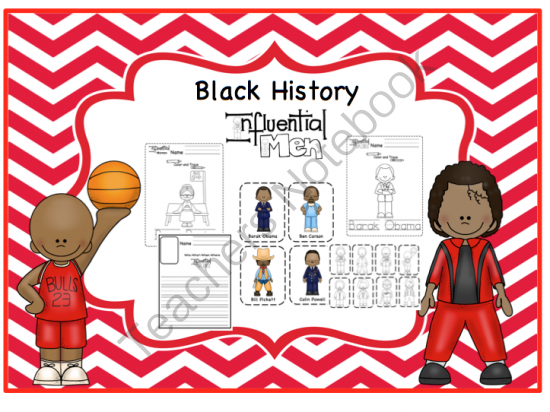 Black History Write/Color/Paste Writing Pages 2 ~ Preschool Printables