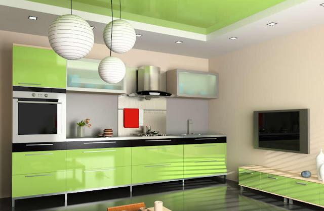 Diseno cocina urbana verde cocinas y ba os reposteros for Diseno banos y cocinas