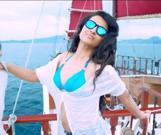 Trisha Krishnan Steals the heart with a Blue Bright Bikini in Aranmanai 2 Tamil movie