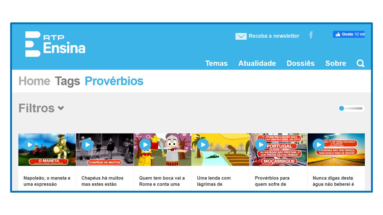 PROVÉRBIOS DA LÍNGUA PORTUGUESA