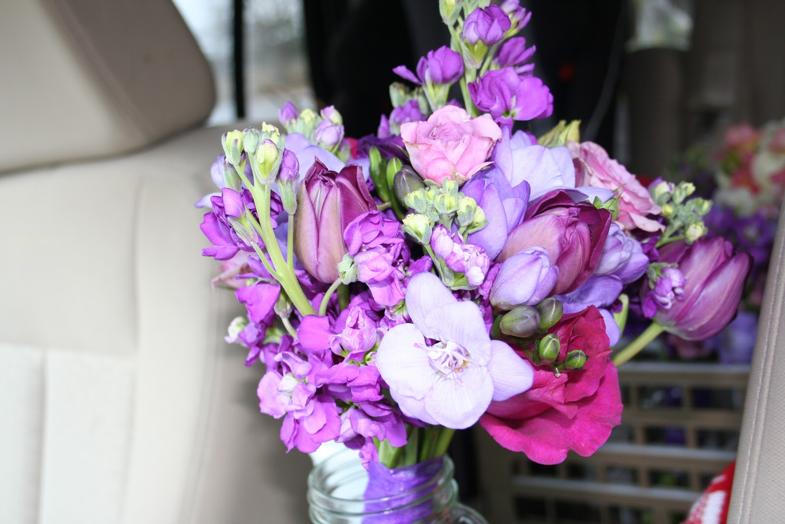 Unforgettable Floral Purple Pink And Blue Wedding