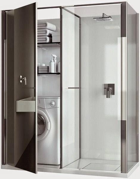 Planos low cost la lavadora en el ba o the washer in for Bano con lavanderia