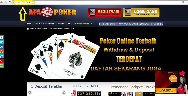 Bypass Internet Sehat Untuk Akses Afa Poker