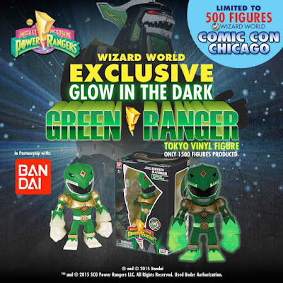 Wizard World Exclusive Mighty Morphin Power Rangers Glow in the Dark Green Ranger Tokyo Vinyl Figure by Touma