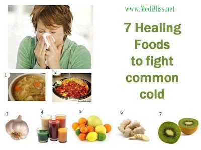 7 Healing Foods to fight common cold