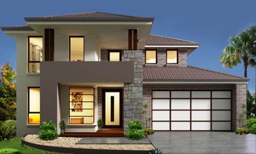 rumah tingkat minimalis sederhana rancangan desain rumah