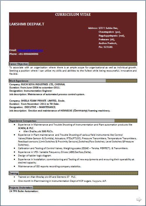 Industrial instrumentation technician resume general technician resume trendresume resume styles and resume templates engineering cv sample resume electrical engineer malaysia yelopaper Choice Image