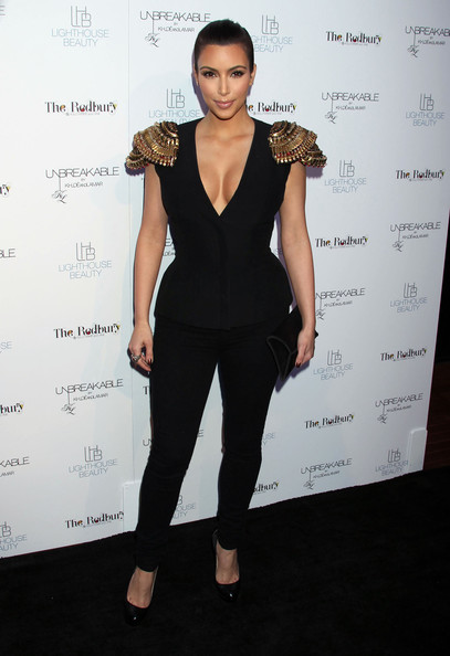 Kim Kardashian Clothing Style Fun Stock Images