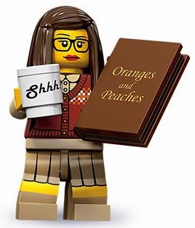 Lego librarian figurine