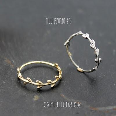 anillos carlalluna modelo rama en oro