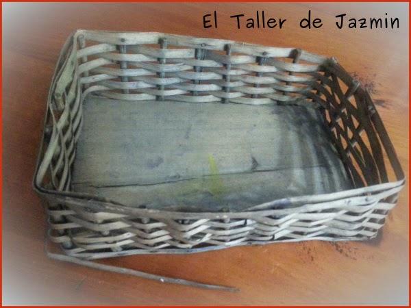 Reciclado canasta de mimbre - Reciclar cestas de mimbre ...