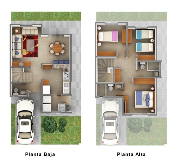 Planos de casas y plantas arquitect nicas de casas y for Casa moderna 90m2