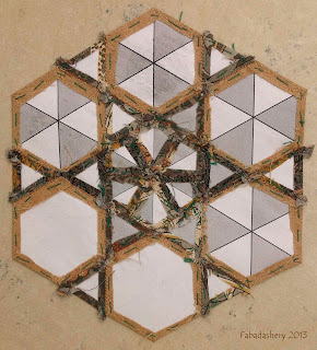 Hexagon English Paper Piecing - Reverse