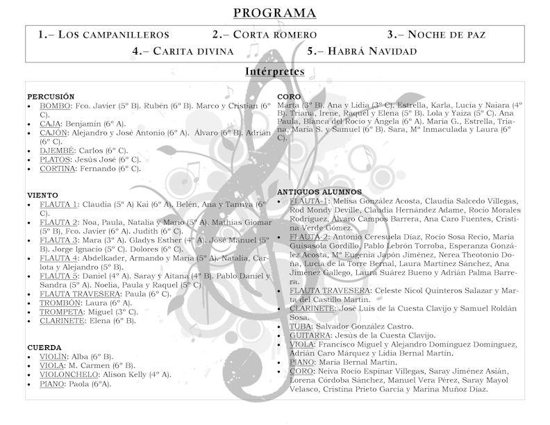 Contemporáneo Plantilla De Programa De Recital Embellecimiento ...