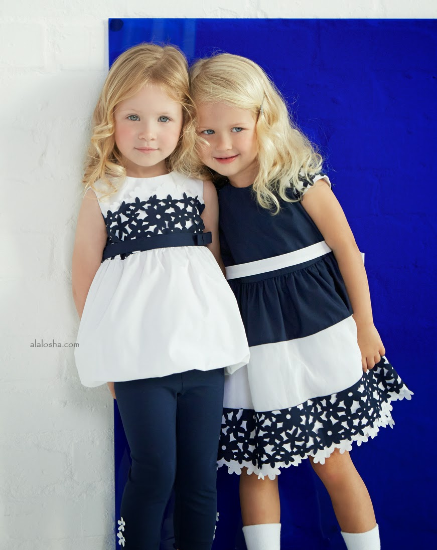 Childrenswear Lilica Ripilica Spring-Summer  ... clothes designed for the most elegant events, while daywear presents  pastel colors mixed with denim and white, simple and refined childrenswear.