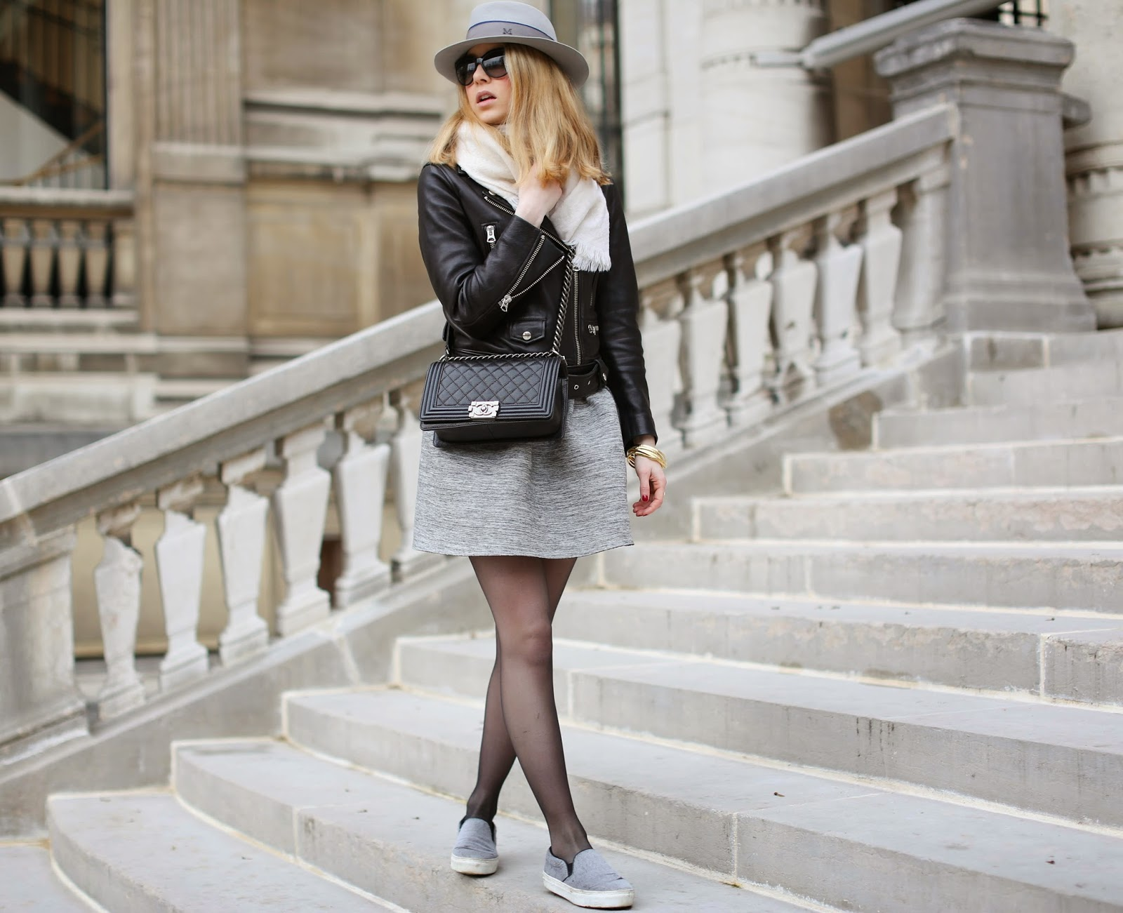 acne, skirt, céline, slipons, maison michel, fendi, streetstyle, fashion blogger