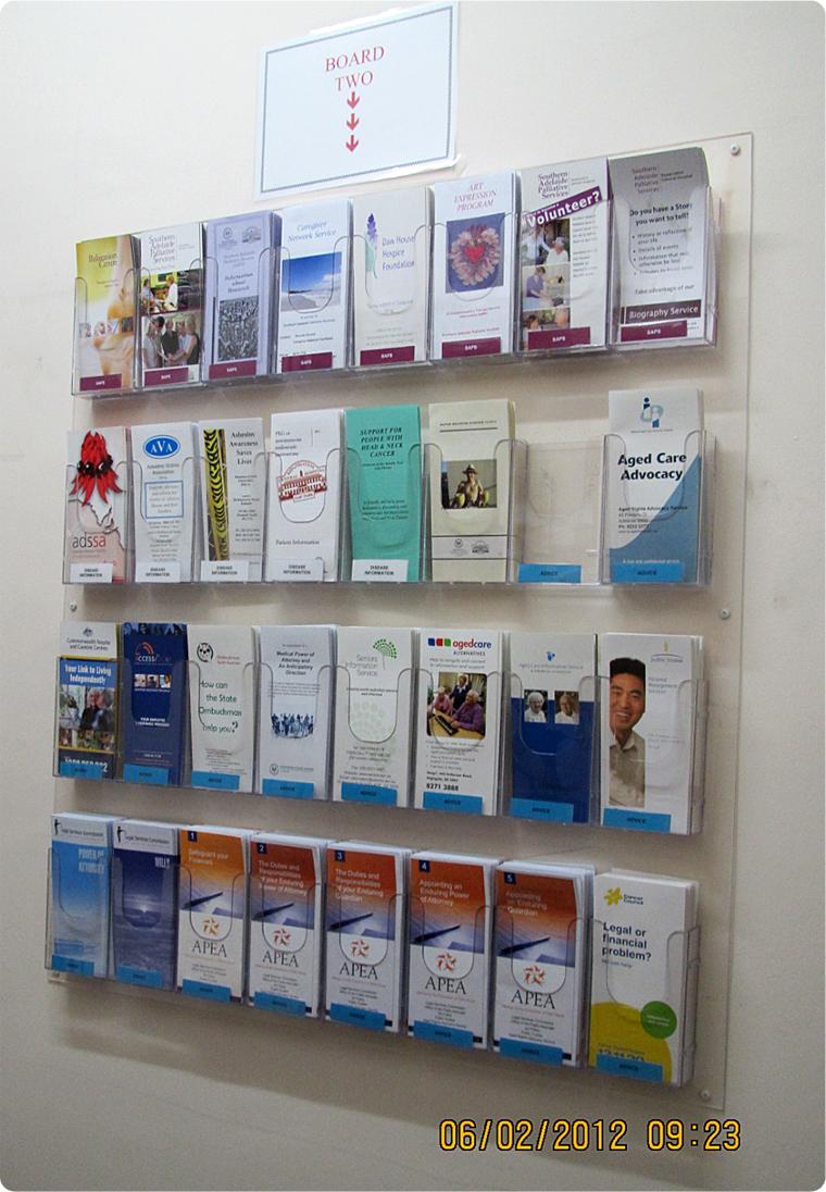 Brochure Samples Pics Brochure Racks Wall Mounted