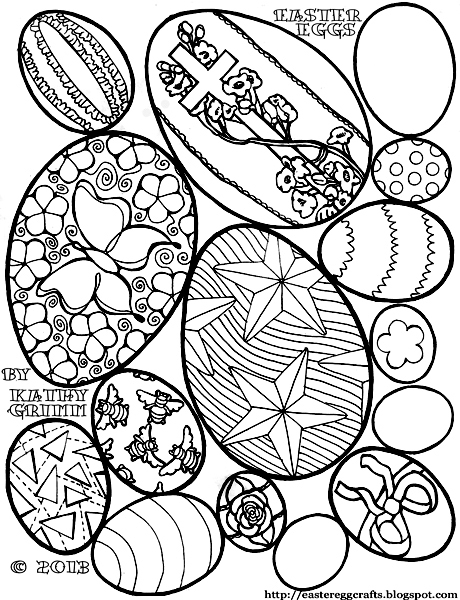 Easter Egg Coloring Pages Vintage Eggs