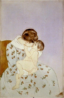 El bes de la mare (Mary Stevenson Cassatt)