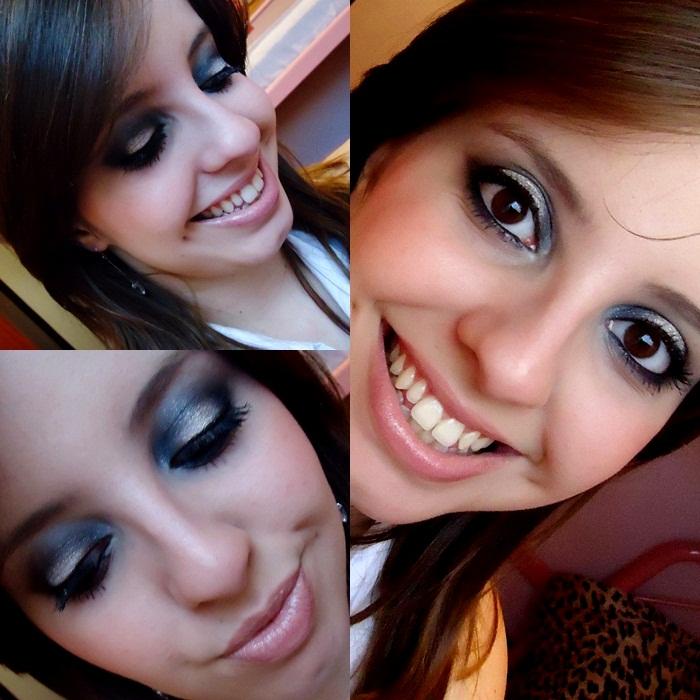 smokey eye com glitter