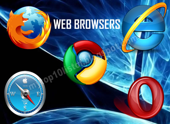 Top 10 Web Browsers 2013