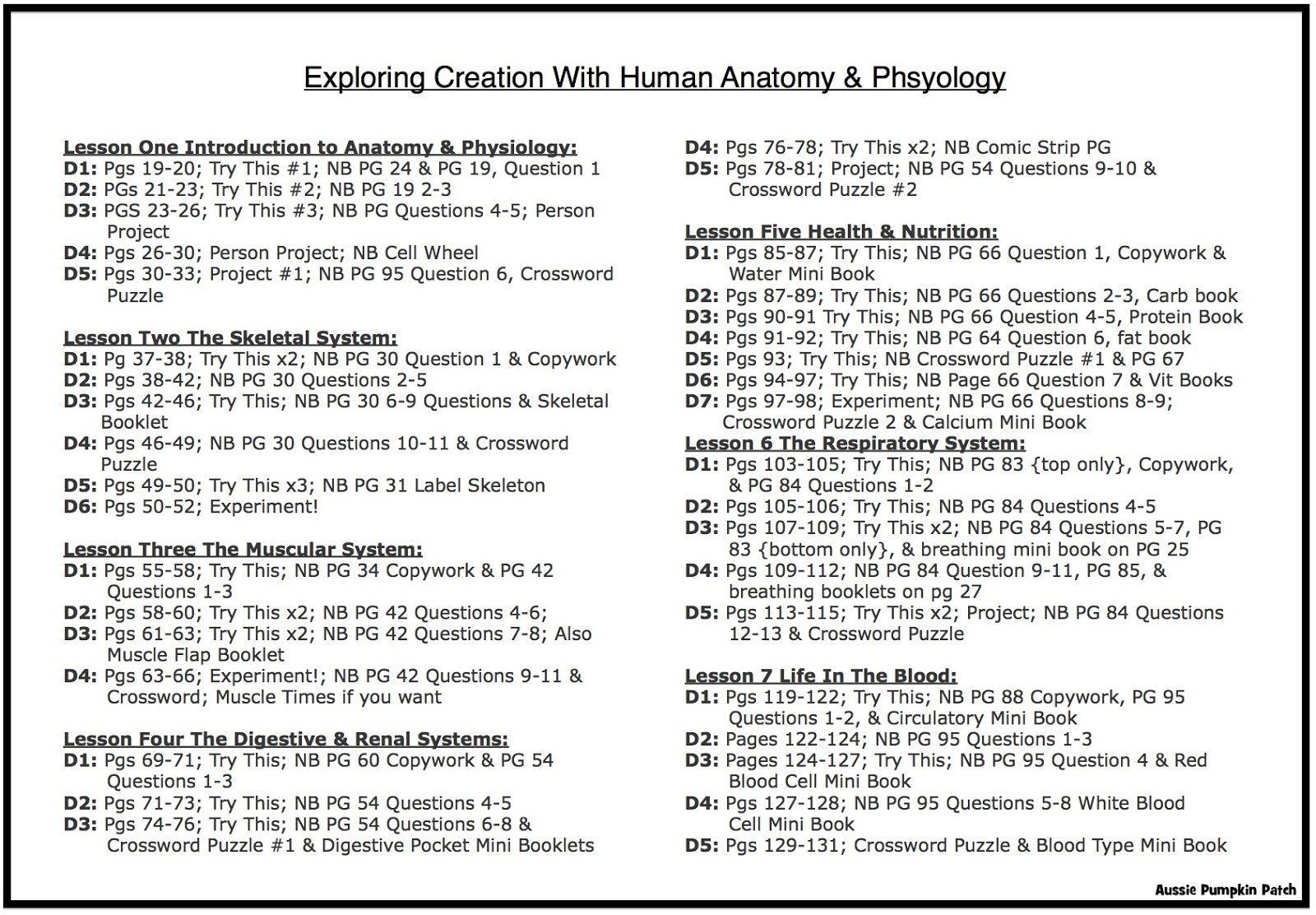 Atemberaubend High School Anatomy And Physiology Lesson Plans Ideen ...