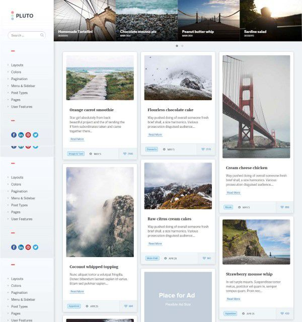 Pluto clean theme for personal blogging