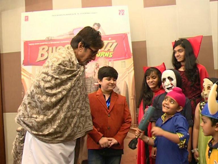 Little Raavi meets Amitabh Bachchan