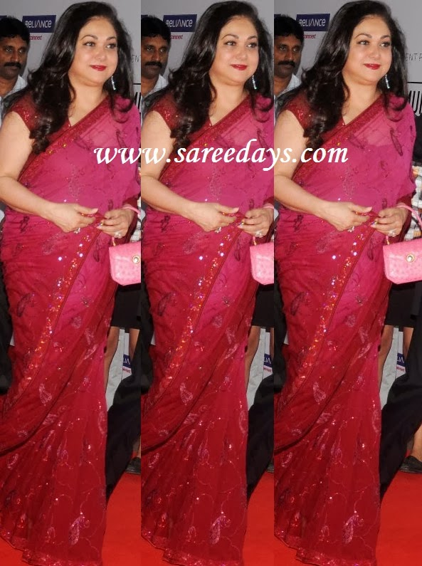 Latest saree designs tina ambani in pink designer saree checkout tina ambani in pink designer saree with embroidery work and small work border and paried with matching mega short sleeves blouse altavistaventures Images