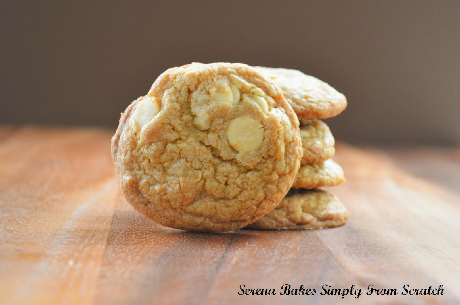 Brown Butter White Chocolate Macadamia Nut Cookies - Serena Bakes ...
