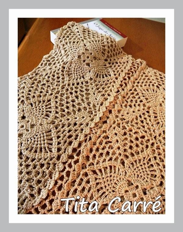 Coletinho Pineapple em crochet