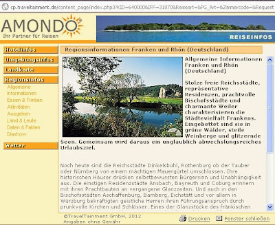 Regionsinformationen Franken