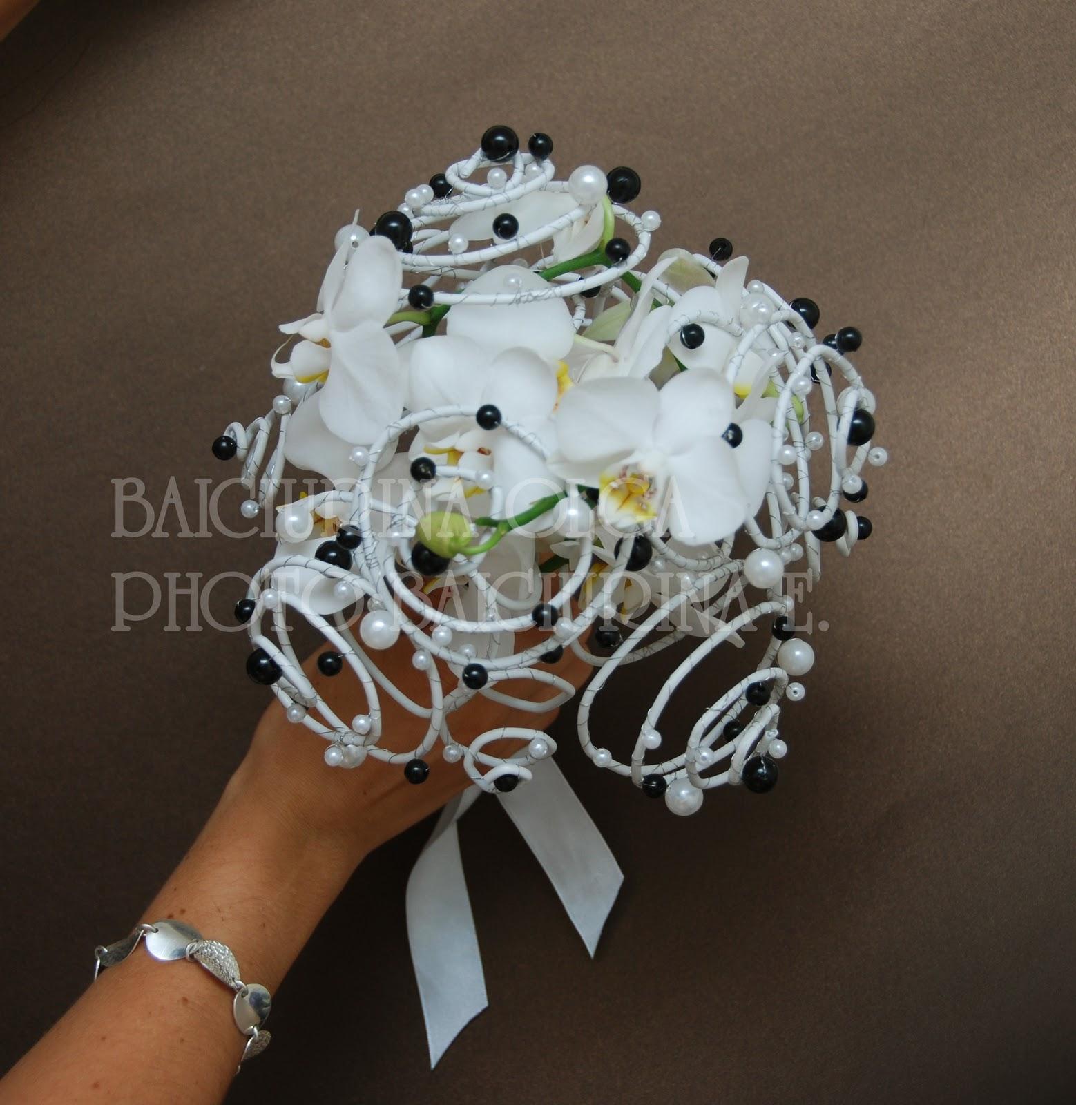 Свадебные букеты из необычных цветов фото