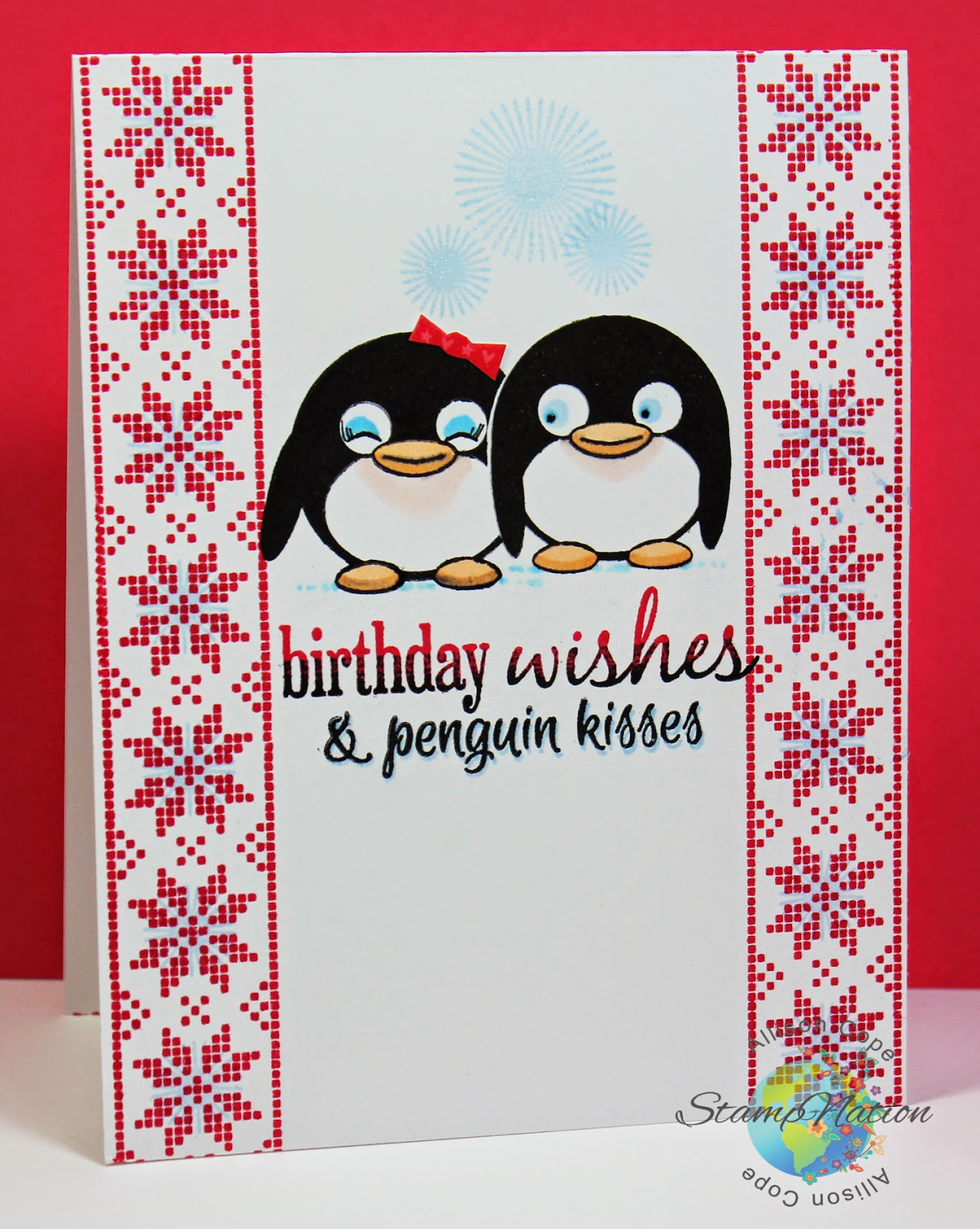 StampNation 4th Birthday Bash ~ Penguin Kisses by Allison Cope
