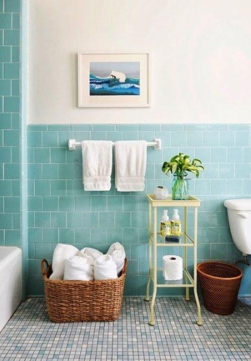 Ba os en color azul decoraci n - Como pintar mi piso moderno ...