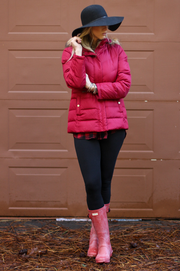 red huntress hunter boots