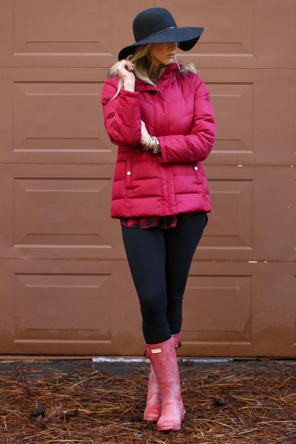 red huntress hunter boots