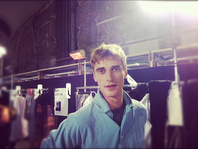 tadziomagazine Clement Chabernaud DRIES VAN NOTEN FALL WINTER 2012 2013 BACKSTAGE PARIS MENS FASHION WEEK