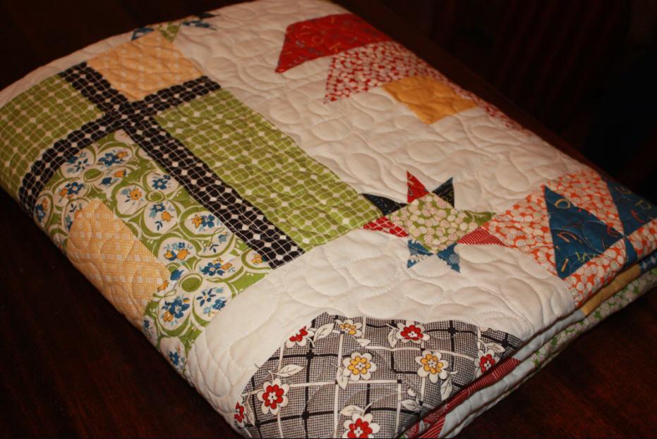 Martha s Blog: Layer Cake Quilt Along Quilt