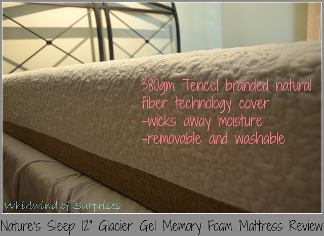 "Nature's Sleep 12"" Glacier Gel Memory Foam Mattress Review #NSAmbassador"
