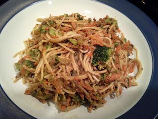 Vegan Asian dinner