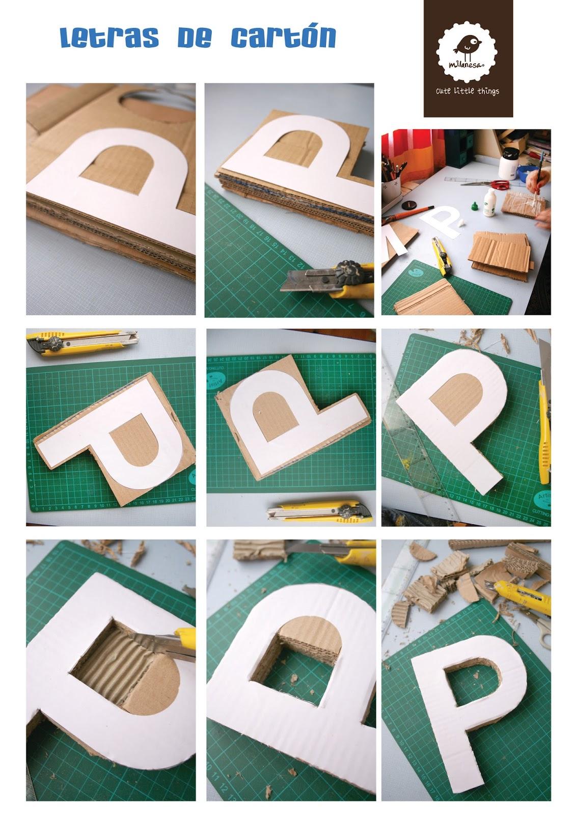 tutorial letras carton por milanesa- II parte