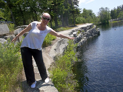 Discovering one of the swimming holes...an old quarry site
