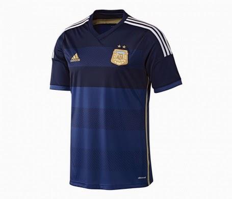 nouveau maillot ext rieur 2014 de l 39 argentine away kit