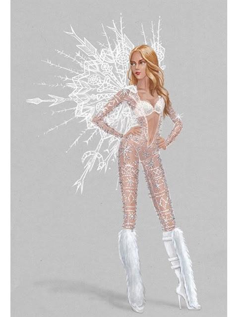 Victoria´s Secret: conheça três croquis que farão parte no desfile - croqui Ice Angel - foto: reprodução