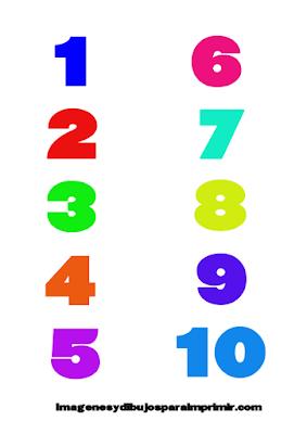 Memorama de números para imprimir