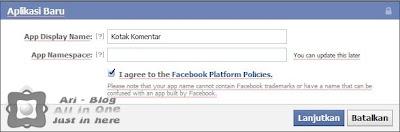 pasang kotak komen facebook yang berbeda di blog
